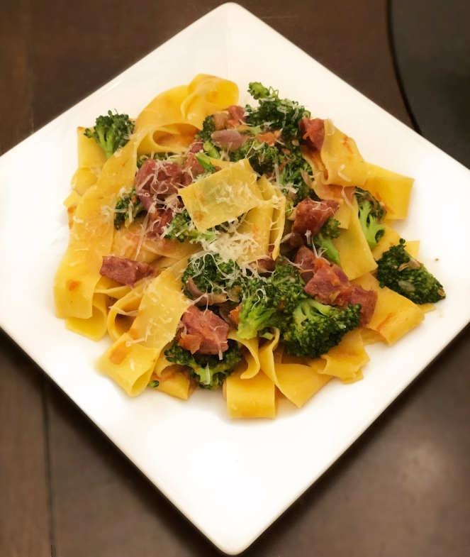 pappardelle sausage broccoli
